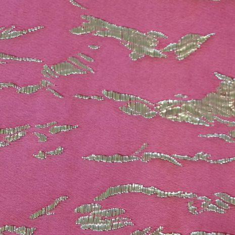 Cerise pink satin & lurex code CHsl from The Sewing Room Malvern