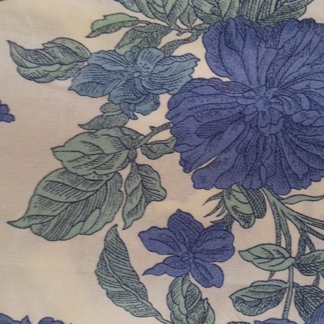 Blue & Green floral 100% silk at The Sewing Room Malvern code RE6