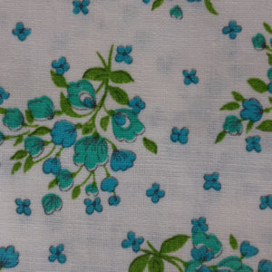 Aqua green floral spigs cotton fabric code RE1 from The Sewing Room Malvern