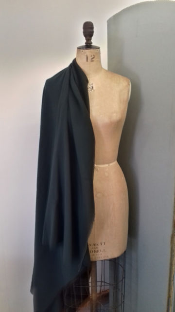 Dark green wool crepe code CH08cr at The Sewing Room Malvern