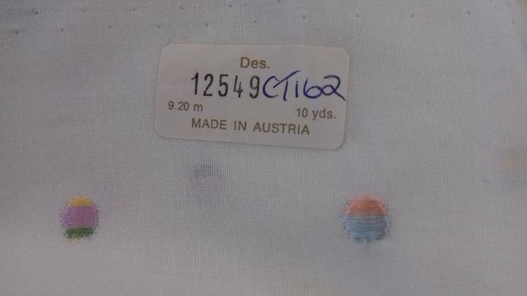 Austrian cotton design label
