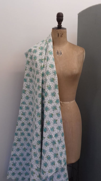 Aqua Green and White Cotton code RE1 at The Sewing Room Malvern