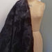 Black silk with flock flowers code CHBSf at The Sewing Room Malvern