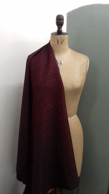 Burgundy dot pattern code CH26 at The Sewing Room Malvern