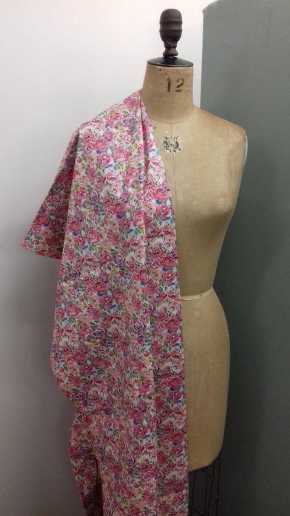 Pink Floral cotton lawn code RE10 at The Sewing Room Malvern