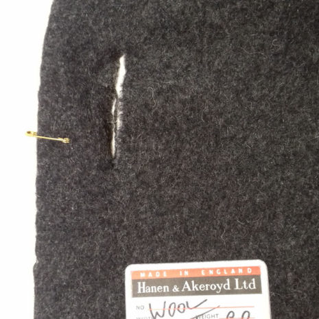 Wool cashmere label code KHE at The Sewing Room Malvern